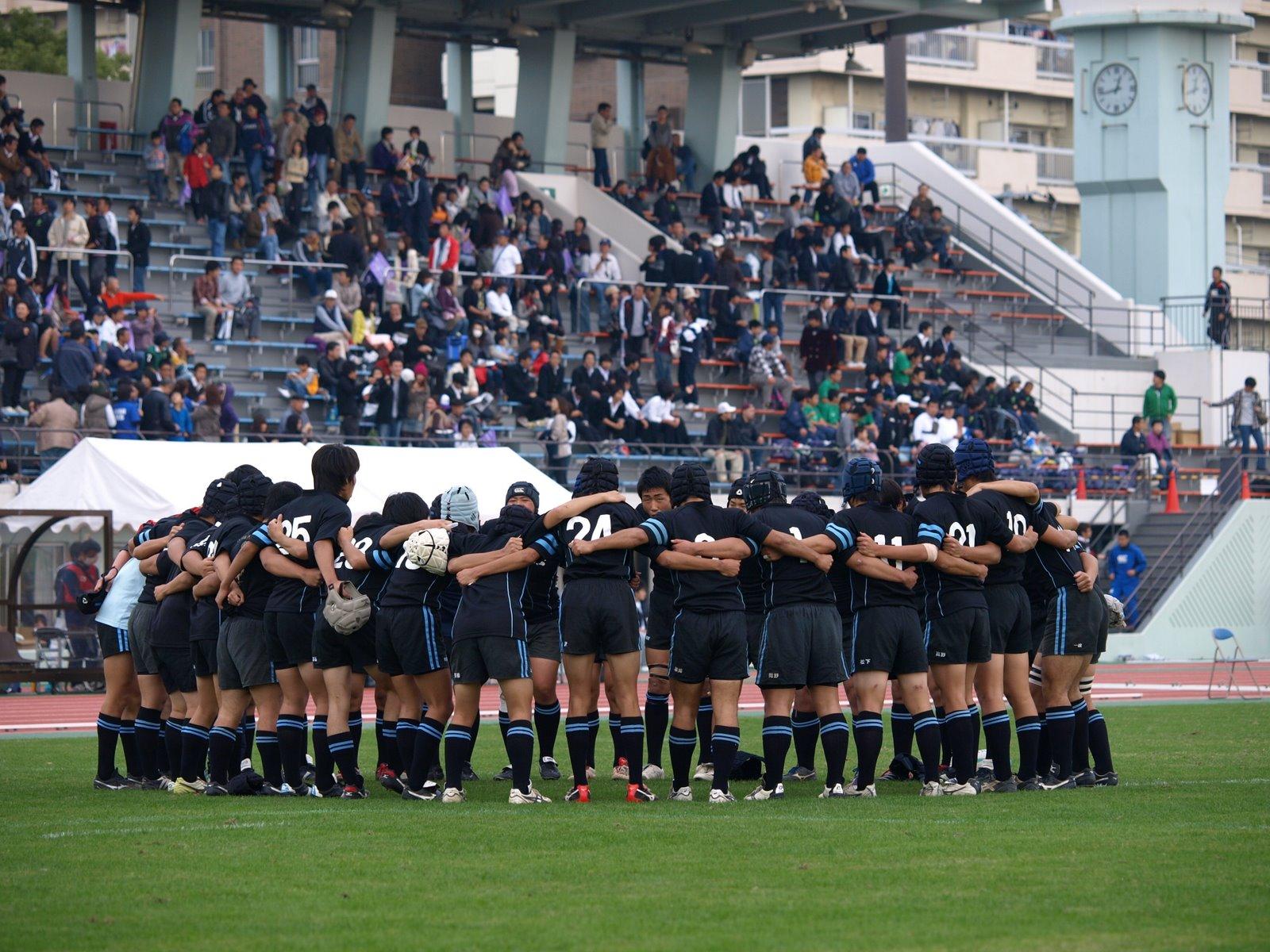 第89回全国高校ラグビー大会東京都予選準決勝戦試合開始直前
