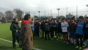 全国大会に出場するサッカー部をサポート